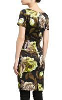 St. John Tuscan Roseprint Silk Dress - Lyst
