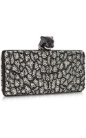 Roberto Cavalli Panther Minaudiere Clutch Wcrystals - Lyst