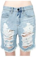 Nasty Gal Blank Nyc What Rhymes with Hug Me Boyfriend Short - Lyst