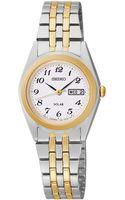 Seiko Womens Solar Twotone Stainless Steel Bracelet Watch 25mm Sut116 - Lyst