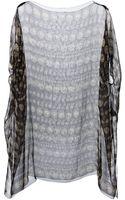 Dolce & Gabbana Sheer Coin Print Dress - Lyst