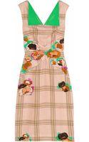 Roksanda Ilincic Finton Embossed Printed Silkblend Dress - Lyst
