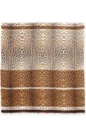 Roberto Cavalli Leopardprint Woolblend Wrap - Lyst