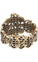 Oscar de la Renta Gold-plated Cut-out Bracelet - Lyst