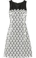 Oscar de la Renta Laceembellished Silkfaille Dress - Lyst