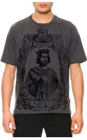 Dolce & Gabbana Flecked Kinggraphic Tee - Lyst
