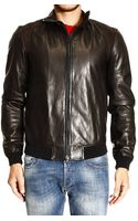 Mauro Grifoni Down Jacket Bomber Leather - Lyst