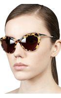 Miu Miu Large Cateye Sunglasses - Lyst