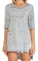 Free People Striped Shredded Tee - Lyst
