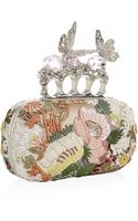 Alexander McQueen Embroidered Knuckle Duster Clutch - Lyst