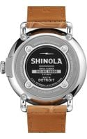 Shinola The Runwell Stainless Watch with White Leather Strap 41mm - Lyst