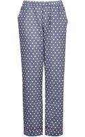Topshop Chambray Pyjama Bottoms - Lyst