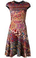 Just Cavalli Persian Print Dress - Lyst
