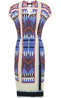 Etro Wrap Front Cady Dress - Lyst