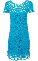 Sea Short Sleeve Lace Dress - Lyst