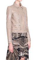 Roberto Cavalli Leather Jacket with Coconut Print - Lyst