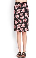 Forever 21 Floral Print Pencil Skirt - Lyst