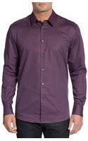 Versace Checked-stripe Sportshirt - Lyst
