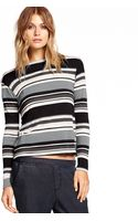 Michael Stars Crew Neck Crop Top - Lyst