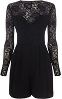 Oasis Emma Lace Long Sleeve Playsuit - Lyst