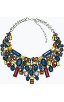 Zara Necklace with Geometric Rhinestones - Lyst