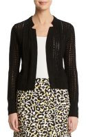 Anne Klein Textured Notch Collar Jacket - Lyst