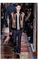 Valentino Fur Leather Bomber Jacket - Lyst