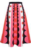 Valentino Wool-silk Midi Skirt - Lyst