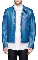 Acne Studios Neil Taped Leather Biker Jacket - Lyst