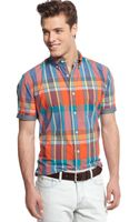 Tommy Hilfiger Bluff Plaid Customfit Shirt - Lyst