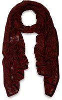 Missoni Red Zigzag Woolblend Scarf - Lyst