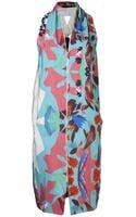Roland Mouret Hadar Silk Dress in Paradise Print - Lyst