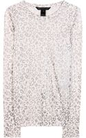 Marc By Marc Jacobs Sasha Foilprint Linen Top - Lyst