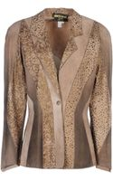 Roberto Cavalli Leather Outerwear - Lyst