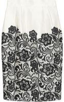 Dolce & Gabbana Lace-print Silk-satin Skirt - Lyst
