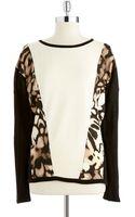 Calvin Klein Plus Contrast Colorblock Sweater - Lyst