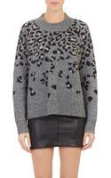 Rag & Bone Leopard Intarsia Isadora Sweater - Lyst