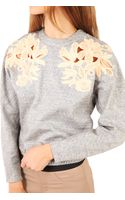3.1 Phillip Lim Guipure Lace Embroidered Sweatshirt - Lyst