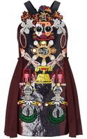 Mary Katrantzou Clocktopia Dress Embroidered - Lyst