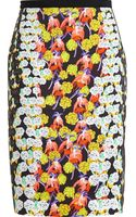 Peter Pilotto Floral Print Crepe Pencil Skirt - Lyst