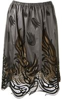 Christopher Kane Grey Embroidered Skirt - Lyst