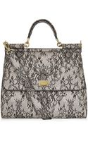 Dolce & Gabbana Miss Sicily Classic Lace Print Tote - Lyst