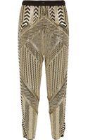 Emilio Pucci Embellished Silkchiffon Tapered Pants - Lyst