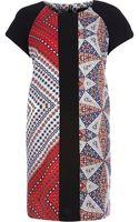 River Island Red Foulard Print Crepe Tshirt Dress - Lyst