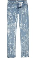 River Island Light Acid Wash Sparks Skinny Jeans - Lyst