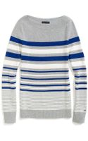 Tommy Hilfiger Stripe Boatneck Sweater - Lyst