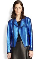 3.1 Phillip Lim Leather Boxy Moto Jacket - Lyst