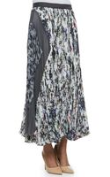 Rebecca Taylor Gray Gardens Accordion Pleated Skirt - Lyst