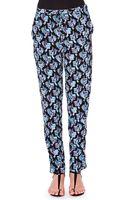 Emilio Pucci Silk Printed Pants - Lyst