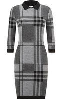 Boss Black Check Knit Dress - Lyst